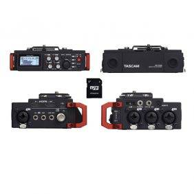 Tascam DR-701D 6-Track Recorder with EV  Music 32gb Card