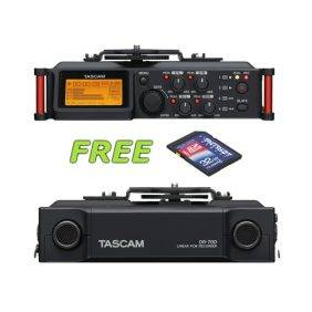 Tascam DR-70D 4-Channel Audio Recorder w/a Free Patriot 32GB SD Card