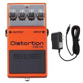 BOSS DS-1X Distortion with PigHog Pig Power 9V DC 1000ma Power Supply