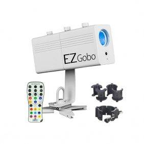 Chauvet EZgobo Rechargeable LED Gobo Lighting Effect w/Chauvet CLP-10