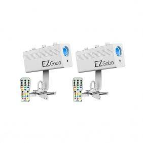 Chauvet EZgobo Rechargeable LED Gobo Lighting Effect 2-Pack