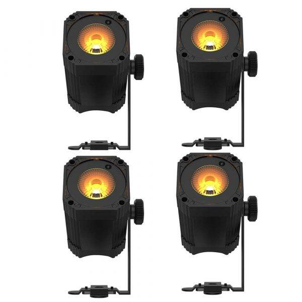 Chauvet EZlink Par Q1BT Battery-Powered Quad-Color Wash Light 4 Pack