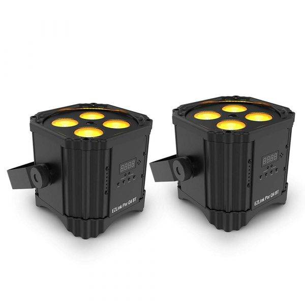 Chauvet DJ EZLINK PAR Q4 BT RGBA Wireless LED PAR Light 2-Pack