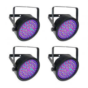 Chauvet EZpar 64 RGBA Battery-Powered Wash Ligh Black 4-Pack