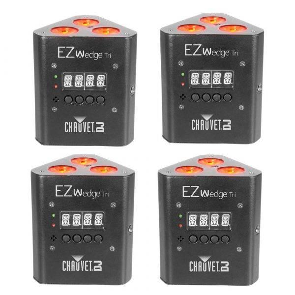 CHAUVET DJ EZWedge Tri Battery-Powered RGB LED Wash Light 4-Pack