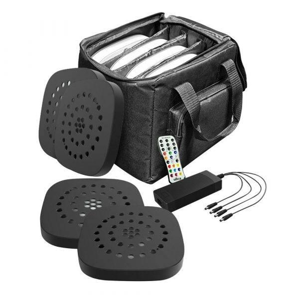 Chauvet Freedom Centerpiece 100% TRUE Wireless Uplight System 4-Pack