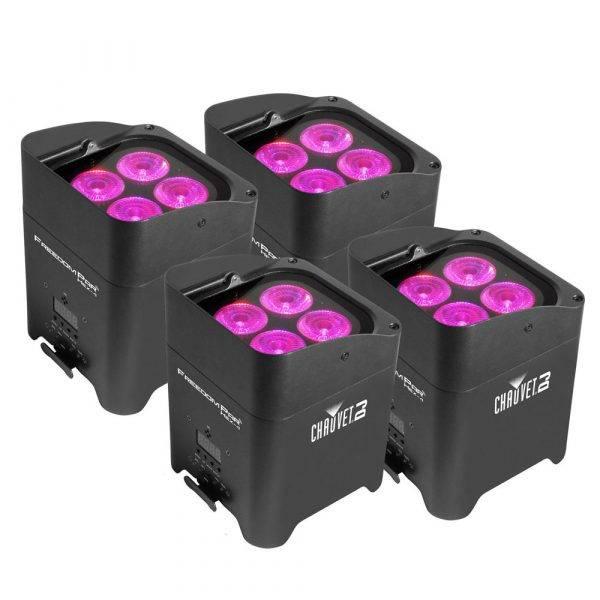 Chauvet Freedom Par Hex-4 LED Light Black (4-Pack)
