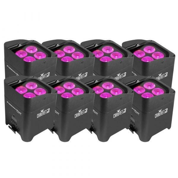 Chauvet Freedom Par Hex-4 LED Light Black (8-Pack)