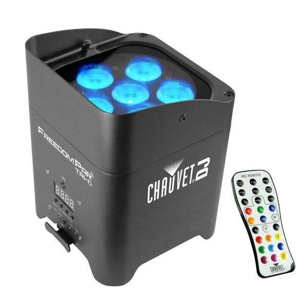 Chauvet Freedom Par Tri-6 LED PAR Lighting Fixture with IRC-6 Remote