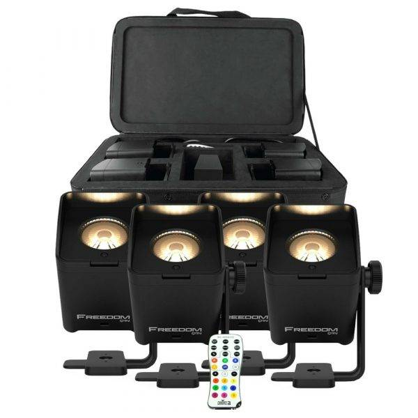 CHAUVET DJ Freedom Q1N TRUE Wireless RGB+WW LED Spin Spot  (4-Pack)