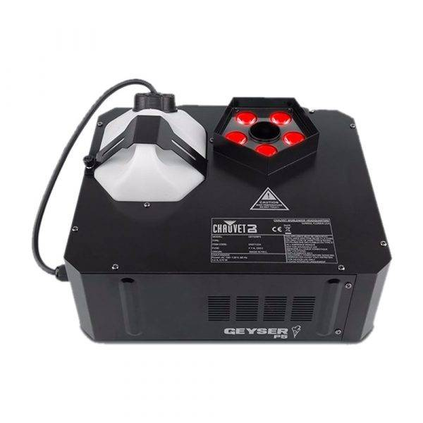 Chauvet Geyser P5 RGBA+UV LED Pyrotechnic-Like Effect Fog Machine