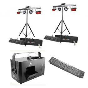 Chauvet GigBar 2 2-Pack, Hurricane Haze 4D and Obey 10 Bundle