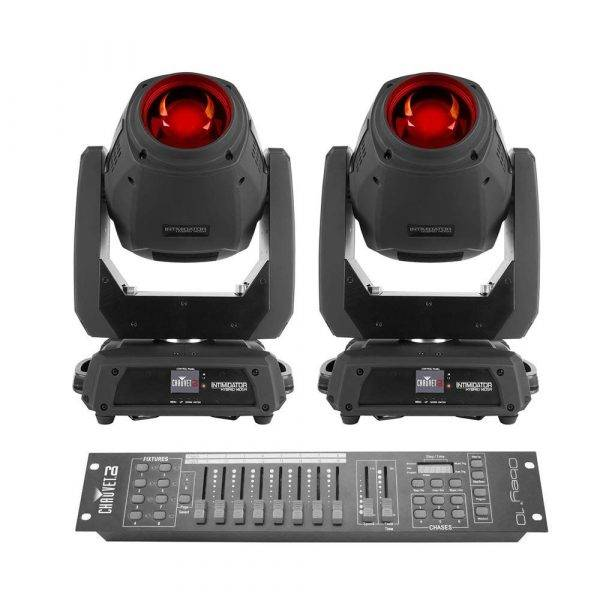 CHAUVET Intimidator Hybrid 140SR Moving Head Beam 2-Pack with Obey 10