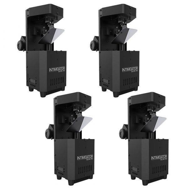 Chauvet DJ Intimidator Scan 110 LED Scanner 4 Pack