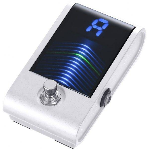 Korg Pitchblack Custom High-sensitivity Chromatic Pedal Tuner White