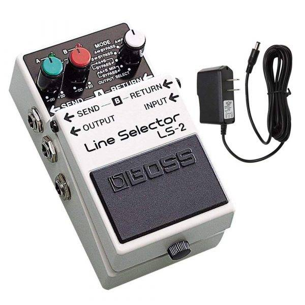 Boss LS-2 Line Selector w/PigHog Pig Power 9V DC 1000ma Power Supply