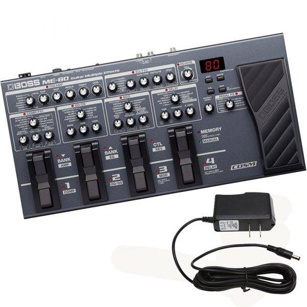 Boss ME-80 Guitar Multiple Effects & Pig Power 9V 1000ma Power Supply