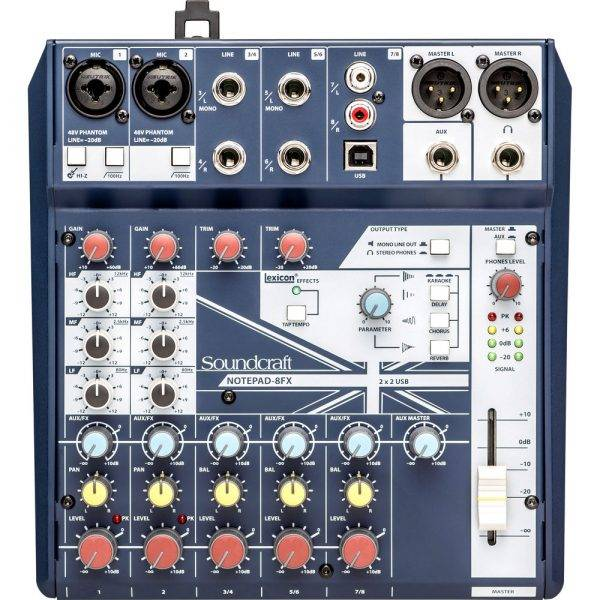 Soundcraft Notepad-8FX Small-format Analog Mixing Console with USB I/O
