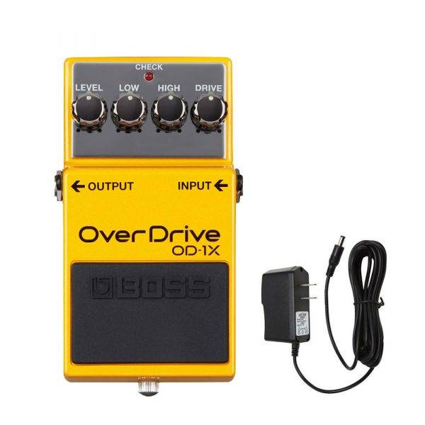 Boss OD-1X Overdrive w/PigHog PigPower 9V 1000ma Power Supply