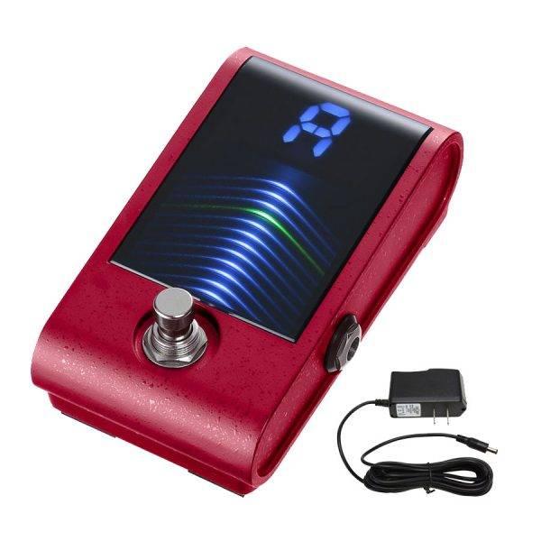 Korg Pitchblack Custom Pedal Tuner Red & Pig Power 9V DC Power Supply