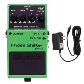 Boss PH-3 Phase Shifter with Pig Power 9V DC 1000ma Power Supply