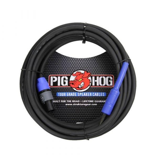 Crown XLS 2002 Power Amp & 2 Pig Hog 25ft SPKON to 1/4' Cables Bundle