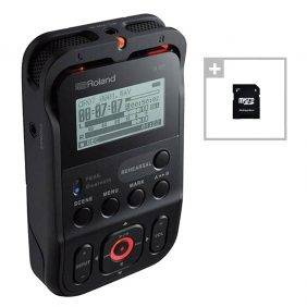 Roland R-07 High-Resolution Audio Recorder Black w/ EV Music 32gb Card