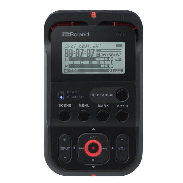 Roland R-07 High-Resolution Audio Recorder Black
