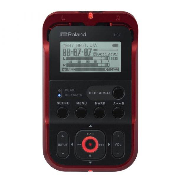 Roland R-07 High-Resolution Audio Recorder Red