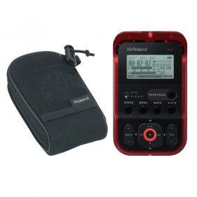 Roland R-07 Handheld Audio Recorder Red with Free Roland Carry Pouch