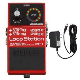 BOSS RC-1 Loop Station with Pig Power 9V DC 1000ma Power Supply