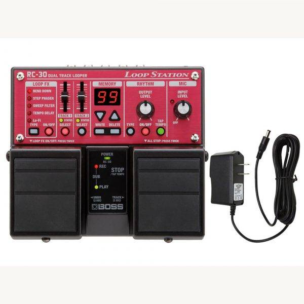 Boss RC-30 Loop Station & Pig Power 9V DC 1000ma Power Supply