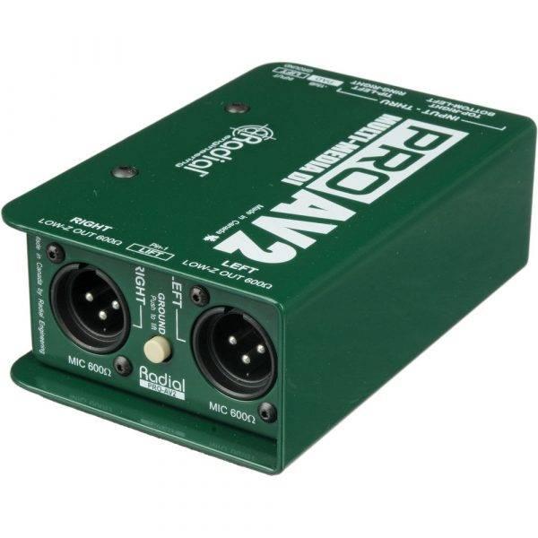 Radial Engineering ProAV2 Audio/Video Passive Stereo Direct Box