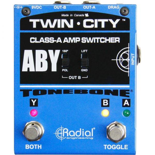 Radial Engineering Twin-City AB/Y Amp Switcher Pedal
