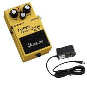 Boss SD-1W Super Overdrive with PowerPig 9V DC 1000ma Power Supply