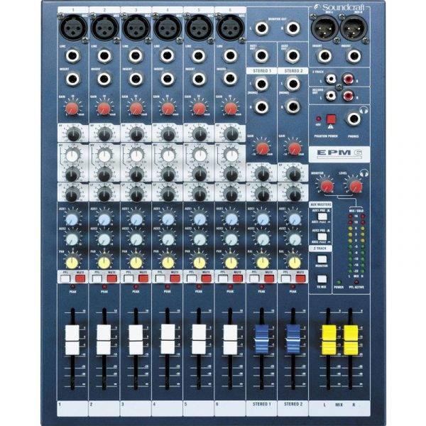 Soundcraft EPM6 6-Channel Multi-Format Mixer
