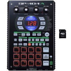 Roland SP-404A Linear Wave Sampler with EV Music 32gb Card