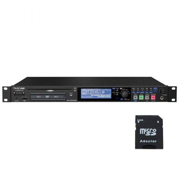 TASCAM SS-CDR250N Solid State Recorder with EV Music 32gb SD Card