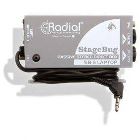 Radial Engineering StageBug SB-5 Laptop Compact stereo DI