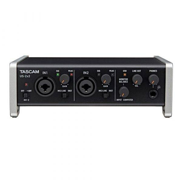 Tascam US-2x2 USB 2.0 2-In/2-Out Audio/MIDI interface Used