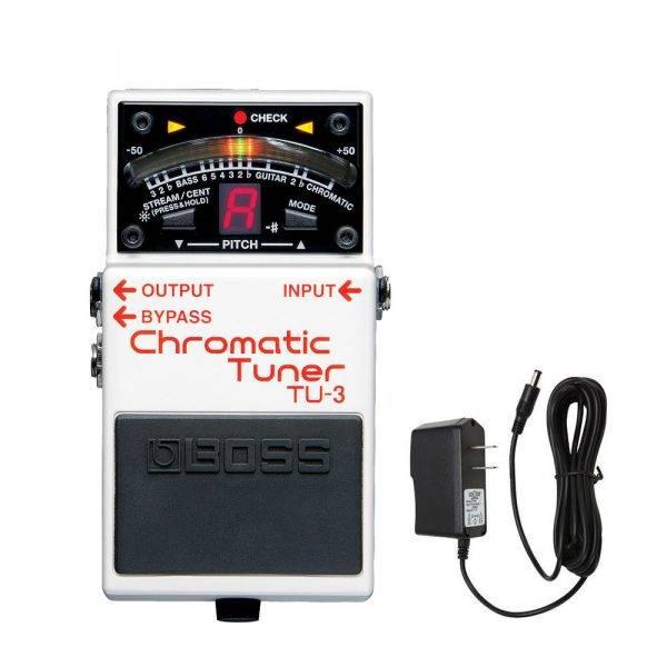 Boss TU-3 Chromatic Tuner w/PigHog PigPower 9V 1000ma Power Supply