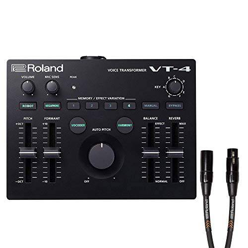 Roland VT-4 Voice Transformer with Roland Premium 15ft Mic Cable