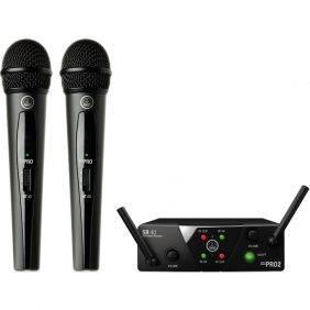 AKG WMS40 Mini2 Dual Vocal Set Wireless Mic System Refurbished