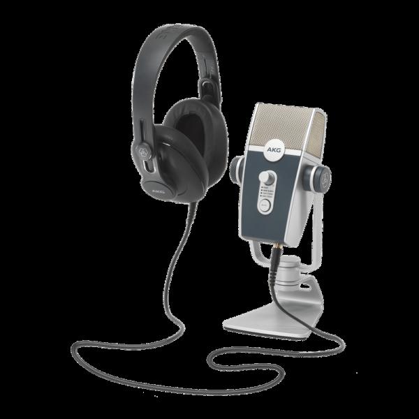 AKG Podcaster Essentials Kit: LYRA USB Microphone & K371 Heahphones