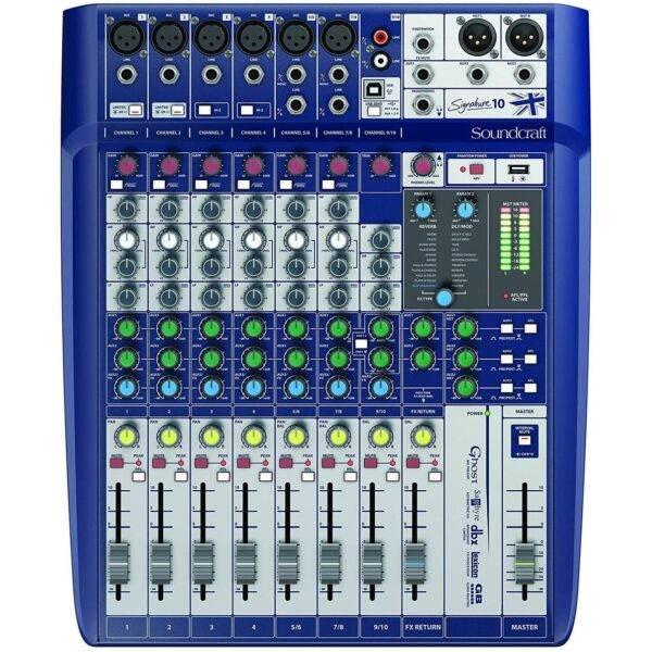 Soundcraft Signature 10 10-input Analog Mixer w/Effects Refurbished