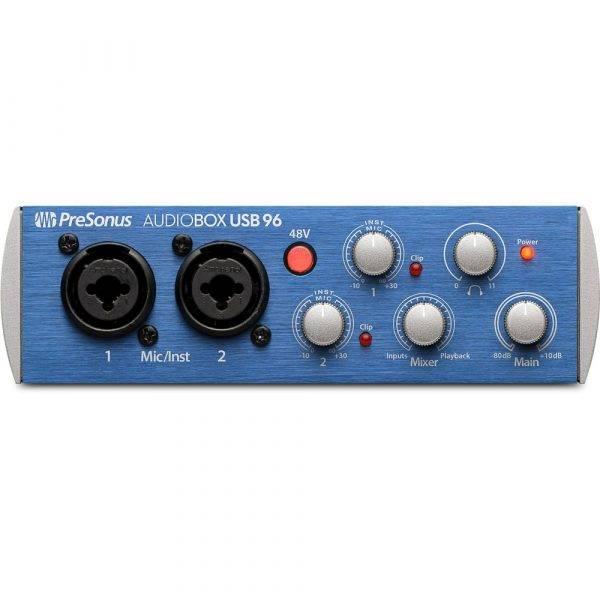PreSonus AudioBox USB 96 2-channel 24-bit/96kHz USB2.0 Audio Interface