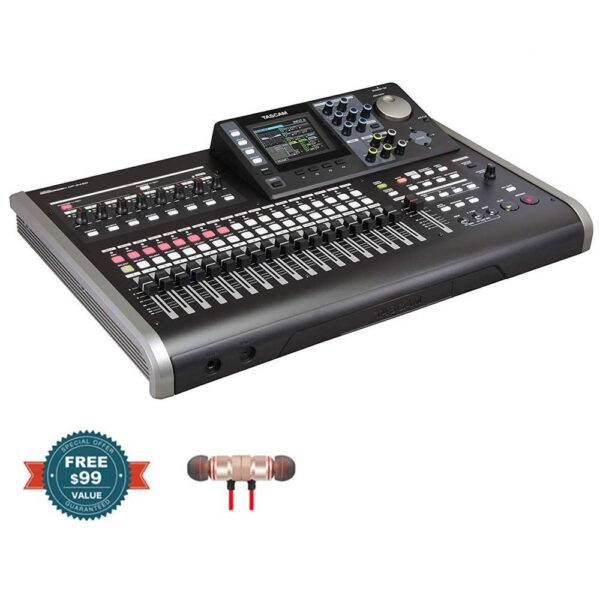 Tascam DP-24SD 24-Track Digital Portastudio with Wireless Earbuds