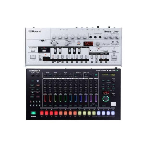 Roland TB-03 Bassline Synth with Roland TR-8S Drum Machine
