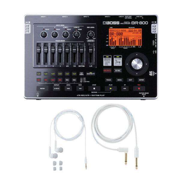 Boss BR-800 Digital Recorder w/Free BA-PC15 Earphones/Guitar Cable Set