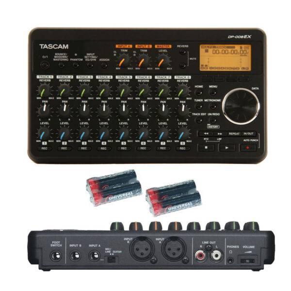 Tascam DP-008EX w/Free 4  Universal Electronics AA Batteries